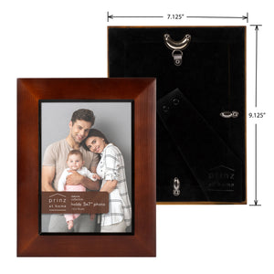 Dakota 5-inch x 7-inch Wood Picture Frame, Dark Walnut