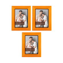Load image into Gallery viewer, Set of Three, Dakota 5-Inch by 7-Inch Wood Picture Frame, Chestnut