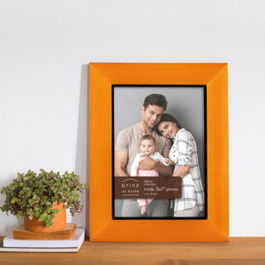 Set of Three, Dakota 5-Inch by 7-Inch Wood Picture Frame, Chestnut