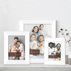 Prinz Dakota Collection Wood Picture Frames, White
