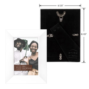 Prinz Dakota 4X 6 Inch Wood Picture Frame White