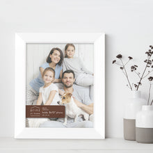 Load image into Gallery viewer, Prinz Dakota 8X10 Inch Wood Picture Frame White