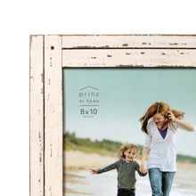 Load image into Gallery viewer, Homestead 8-inch x 10-inch Distressed Wood Picture Frame, White