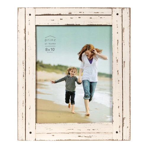 Set of Two, Homestead 8-Inch by 10-Inch Rustic Frame, Antique White