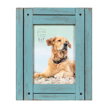 Load image into Gallery viewer, Set of Four, Homestead 5-Inch by 7-Inch Rustic Frame, Coastal Blue