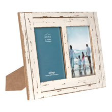 Load image into Gallery viewer, Homestead Collage 5-inch by 7-inch Picture Frame for Two Photos, Distressed White