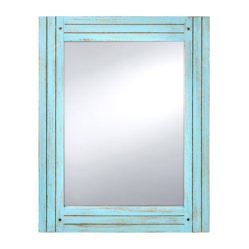 Prinz Homestead Distressed Blue Mirror
