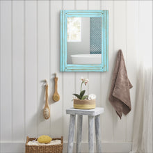 Load image into Gallery viewer, Prinz Homestead Distressed Blue Mirror