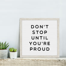 Load image into Gallery viewer, White 12-inch by 12-inch Square Framed Changeable Letter Board