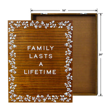 Load image into Gallery viewer, Floral Screen-printed Letter Board 16-inch by 20-inch, Brown