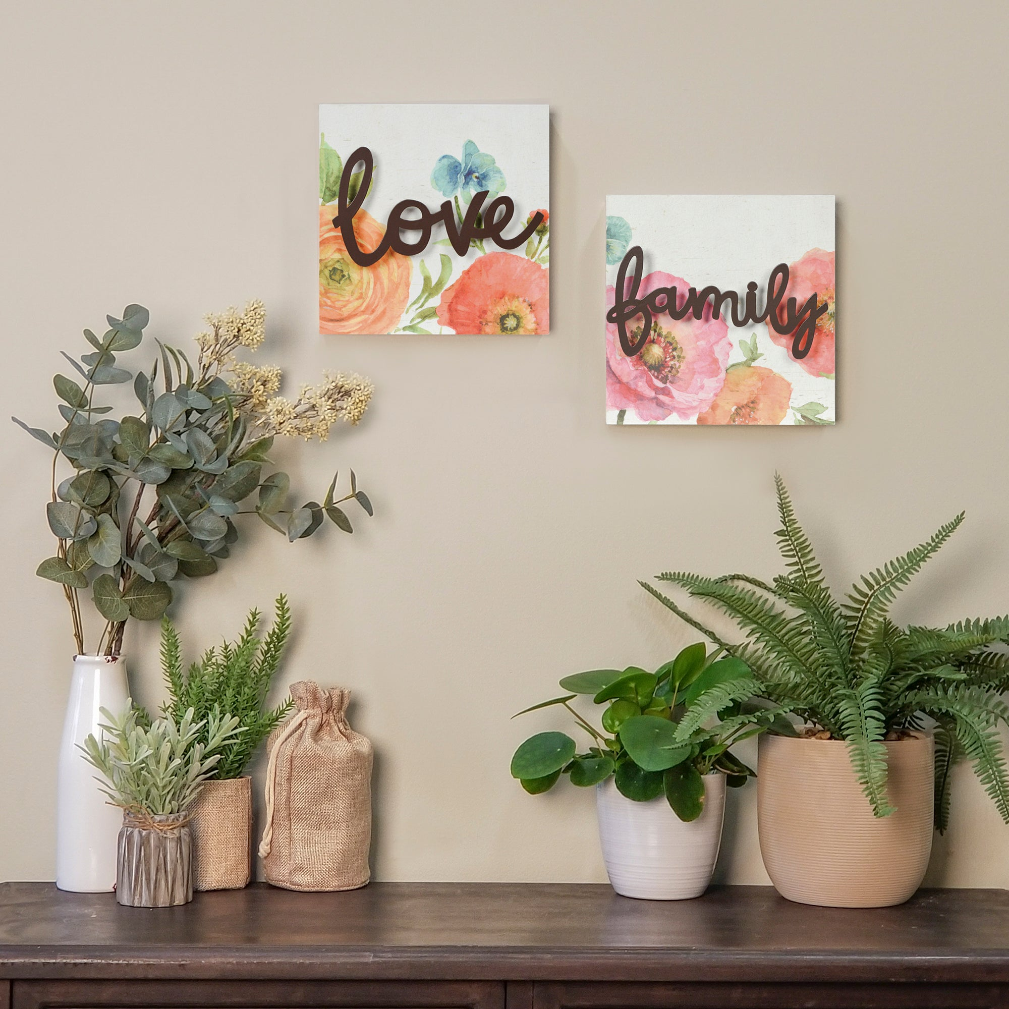 "Lisa Audit 8""x 8"" Family Decorative Word Wall Art"