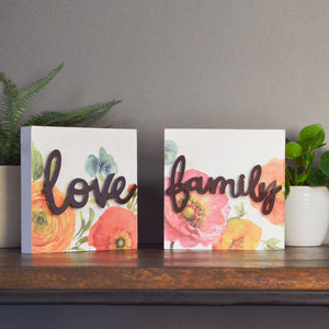 Lisa Audit Decorative Word Wall Art Sign, Family