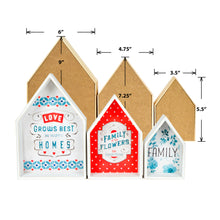 Load image into Gallery viewer, Lisa Audit Decorative Wooden Nesting Houses Family Signs, Blue
