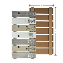 Load image into Gallery viewer, Love of My Life Plank Collage Photo Display with Linen, Rustic Metal Clips