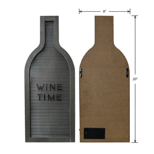 Prinz Light Up Cork Holder Letterboard Wine Bottle Shape