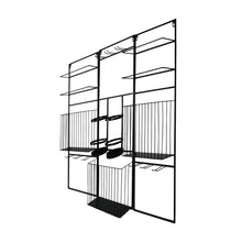Load image into Gallery viewer, Prinz 3-Piece Decorative Hanging Modular Wine Rack Black Metal