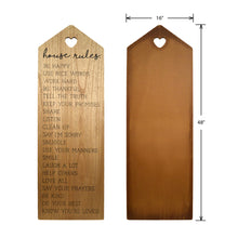 Load image into Gallery viewer, House Rules Decorative Leaning Wall Sign