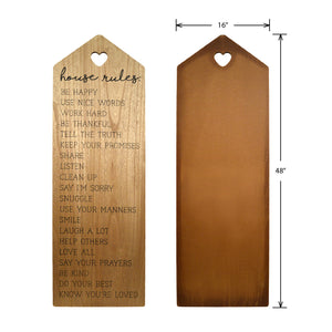 House Rules Decorative Leaning Wall Sign