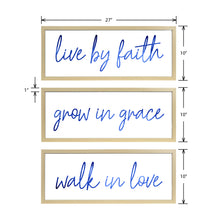 Load image into Gallery viewer, Live By Faith Decorative Hanging Wall Art Plaque