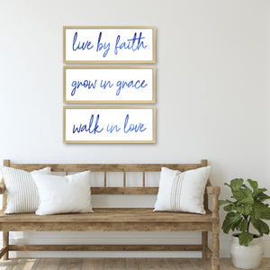 Live By Faith Decorative Hanging Wall Art Plaque