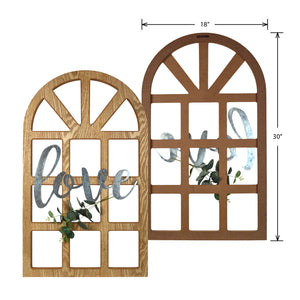 "New View Studio 18""x 30"" Love Cathedral Window Hanging Wall Art"