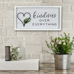 Kindness Over Everything Decorative Wall Art Hanging Plaque