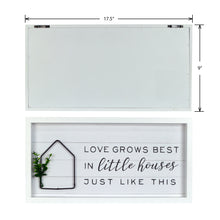 "Load image into Gallery viewer, New View Studio 17.5""x 9"" Love Grows Best Reverse Box With Metal Element Wall Art"