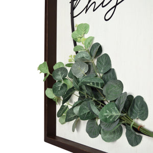 This is Us Decorative Wall Art Plank Framed Wire Wreath