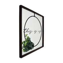 Load image into Gallery viewer, This is Us Decorative Wall Art Plank Framed Wire Wreath