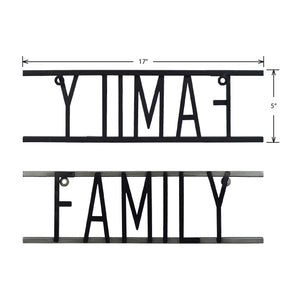 Family Decorative Metal Word Wall Sign
