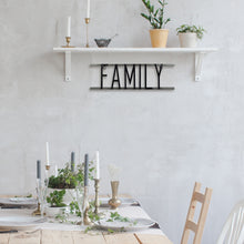 Load image into Gallery viewer, Family Decorative Metal Word Wall Sign
