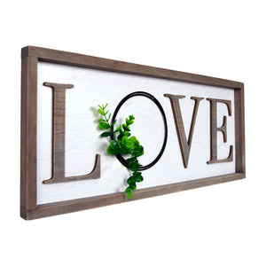 Love Rustic Real Barnwood Whitewashed Plaque