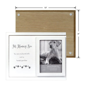 Decorative Dog Photo Keepsake Memory Box