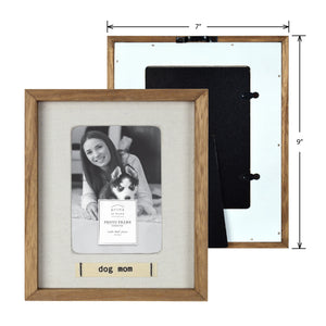 Dog Mom Boxed Wood 4 x 6-inch Picture Frame with Linen Mat