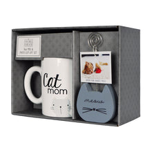 Load image into Gallery viewer, Cat Mom Photo Clippie and Ceramic Coffee Mug Gift Set