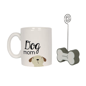 Dog Mom 5 x 7-inch Photo Clippie and Ceramic Coffee Mug Gift Set