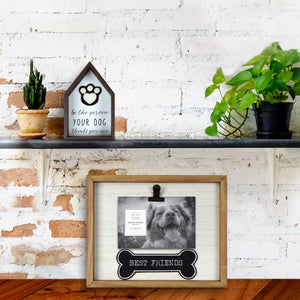 Best Friends Plush Bone 4 x 6-inch Wooden Picture Frame with Clip