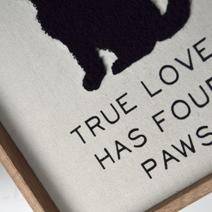 "New View Studio 10""x 12"" True Love Has Four Paws Dog Silhouette Decorative Wall Art"