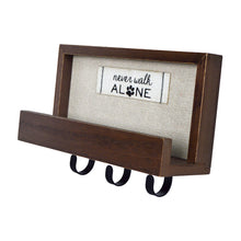 Load image into Gallery viewer, Never Walk Alone Decorative Plaque with 3 Wall Hooks