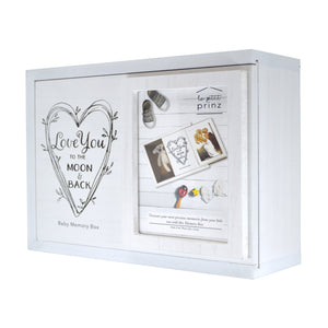 Decorative Baby Photo Keepsake Box, White