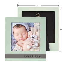 Load image into Gallery viewer, Sweet Boy 4 x 4-inch Sentiment Baby Picture Frame, Light Green