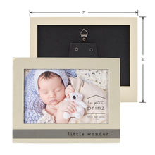 Load image into Gallery viewer, Little Wonder Sentiment 6 x 4-inch Baby Picture Frame, Glossy Taupe