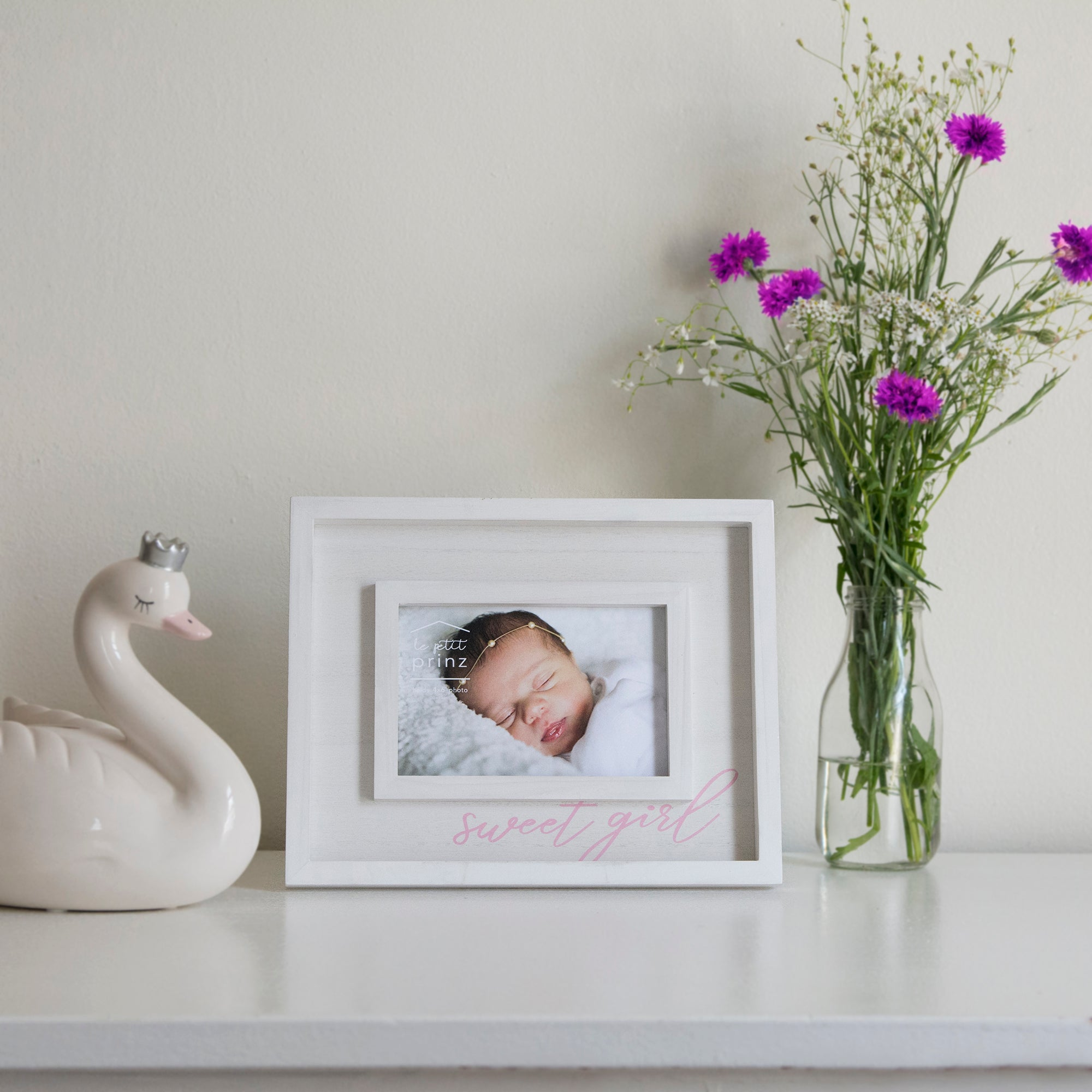 Sweet Girl 4 x 6-inch Boxed Wood Baby Picture Frame