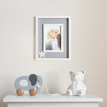 Load image into Gallery viewer, You are My Wish Come True Plush Star 4 x 6-inch Wood Baby Picture Frame