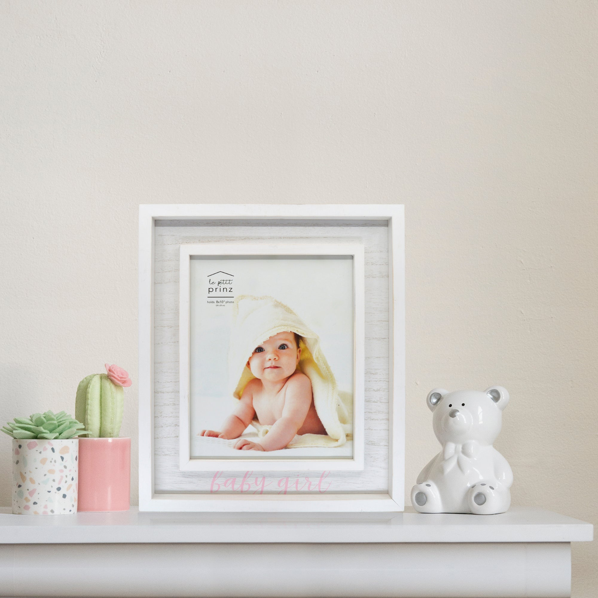 Baby Girl 8 x 10-inch Boxed Wood Picture Frame
