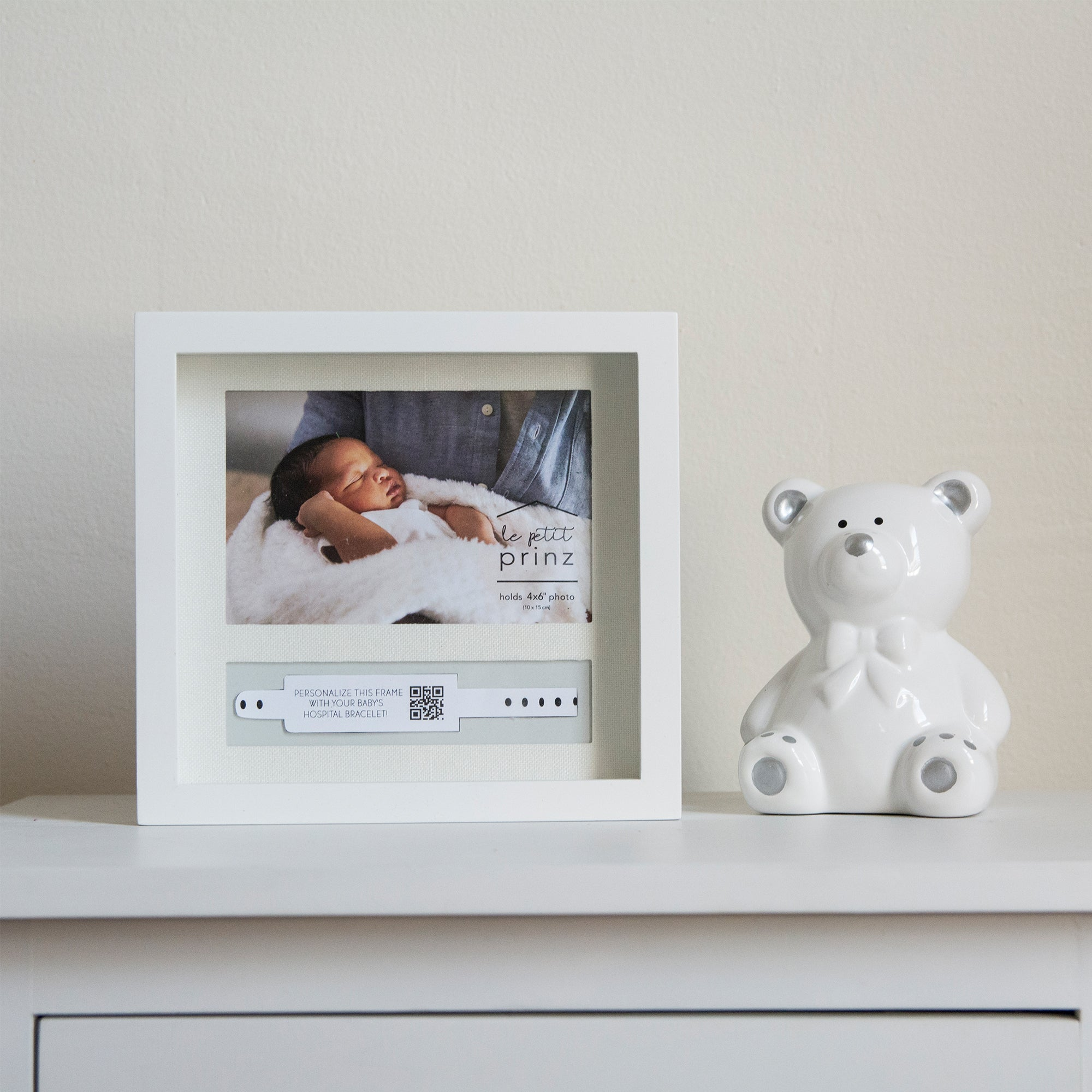 Baby's ID Bracelet Holder & 6 x 4-inch Picture Frame