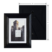Load image into Gallery viewer, Set of Four, Midtown 4-Inch by 6-Inch Picture Frame, Glossy Black