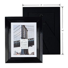 Load image into Gallery viewer, Midtown High Gloss Black 5 x 7 Molded Modern Frame