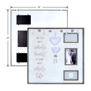 Whole Heart Embellished Felt Hearts Boxed Collage Picture Frame