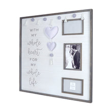 Load image into Gallery viewer, Whole Heart Embellished Felt Hearts Boxed Collage Picture Frame